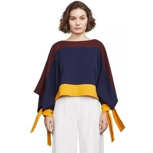 BCBG MAXAZRIA Kourtney Color Block Knit Top